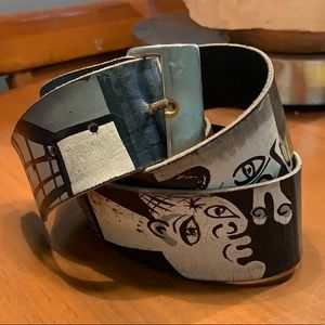Vintage Abstract Painted Belt